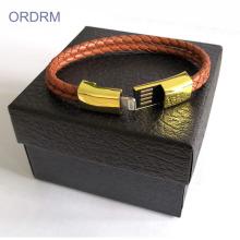Cable de carga de pulseras de cuero fresco para chicos