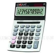 Calculatrice de bureau Dual Power de 12 chiffres avec écran incliné convivial (CA1195)