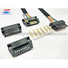 Conector de alojamento retangular de 8 pinos personalizado