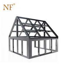 Aluminum lowe sunroom modern glass house