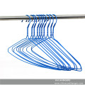 Plastic Plated Metal Blue Laundry Wire Clothes Hanger