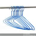 Cabide de arame lavanderia azul Metal chapeado