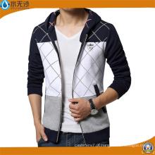 Marca de moda camisolas homens Zipper Hoodies impressão Slim Fit Hoodies