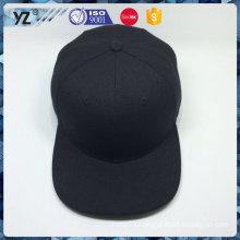100% acrylic flat / square brim black palin snapback cap