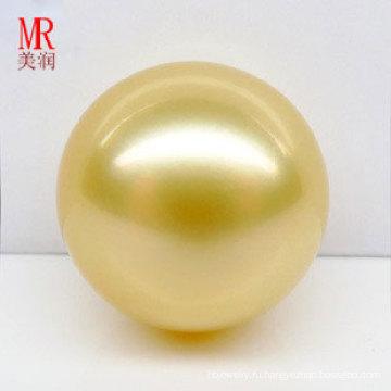 13мм Жемчужное ожерелье из натурального золота Южного моря