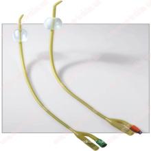 2 Way Tiemann Silicone Coated Latex Foley Balloon Catheter