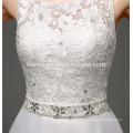 Hot sell cheap luxury ladies crochet lace backless saudi arabian wedding dress for bride