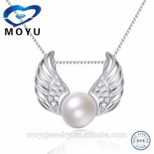 El colgante vendedor caliente de la perla diseña la entrega rápida de la forma de las alas