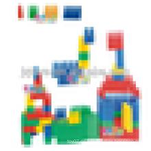 JQ1008 Kindergarten Educativos Niños plástico bloque de construcción de juguete de la Asamblea
