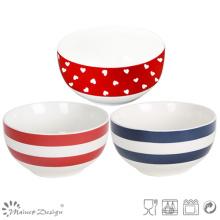 13.5cm Heart Design New Bone China Rice Bowl