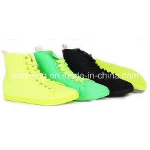PVC Injection High-Cut Shoes New Bright Color pour fille / femme (SNC-49009)
