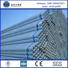 China Factory vend la taille de tube pré-galvanisée de haute qualité