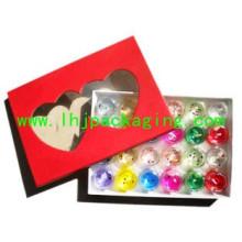 Caixa de papel de presente de embalagens de mármores de alta qualidade com janela de plástico e PVC / Pet