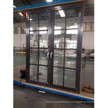 Алюминиевая навесная / французская дверь с решеткой