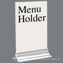 Free Standing Acrylic Menu Display, Clear Acrylic Menu Holder