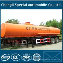 4axles aço inoxidável tanque de combustível 40000liters óleo reboque tanque de combustível