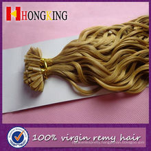 High Quality Indian Remy Micro Ring Hair Extension Italian Wave