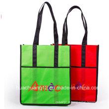 Saco de compras laminado não tecido da promoção Opg087