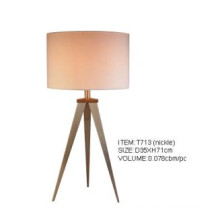 Simple Style Nickle Hotel Decoration Bedside Table Lights (T713(nickle))