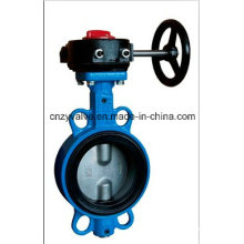 Cast Iron or Steel Rubber Sealed Wafer Butterfly Valve for Sea Water or Oil