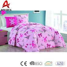 3pc pigmento de impresión de precio bajo de lujo ropa de cama edredón conjuntos a juego con la decoración de la almohada