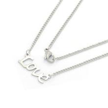 Бесплатный образец моды из нержавеющей стали буквы алфавита кулон alphbet письмо ожерелье