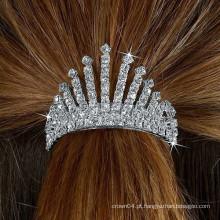 Moda metal prata banhado a tira de cabelo tira de cristal