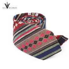 Custom Professional 100% Cotton Skinny Floral Tie For Men