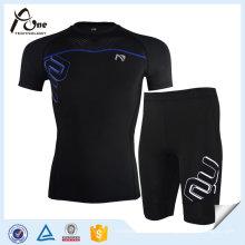 Le costume fait sur commande de compression d'usure de remise en forme des hommes de sports de compression de sports