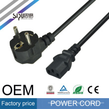 SIPU made in China standard EU plug power supply cable european power extension cord for notebook