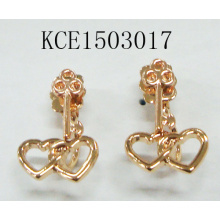 Heart Shaped Metal Gold Plated Earrings Summer