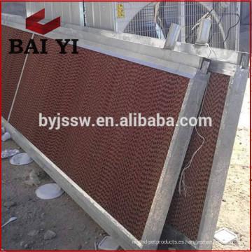 Almohadilla de enfriamiento evaporativo / Cortina húmeda para invernadero y granja de aves de corral