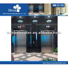 Hairline/etching/mirror stainless steel elevator for office, high speed
