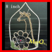 Hot sale Giraffe design Rhinestone pageant crown