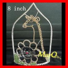 Hot sale Giraffe design Rhinestone pageant crown