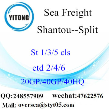 Shantou Port Sea Freight Shipping To Split