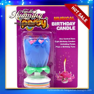 Vela de la flor de la música fiesta de cumpleaños uso vela musical
