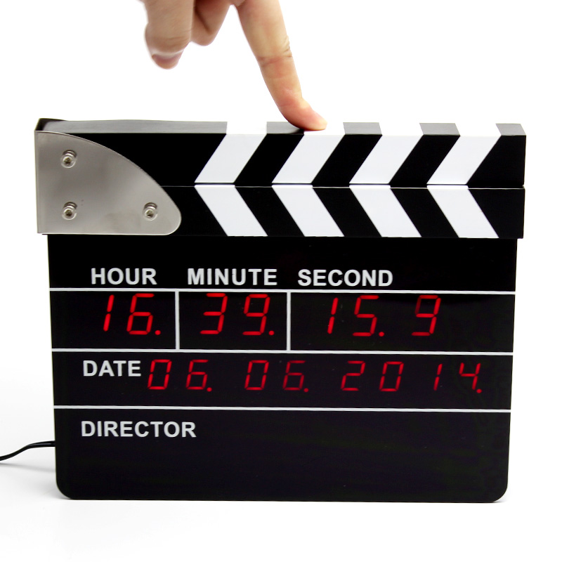 Movie Clapper Clock