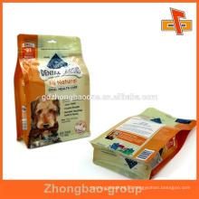 Biodegradable side gusset foil ziplock bag for pet food packaging