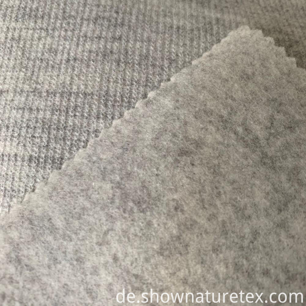 Burshed Knit Fabric Cationic Look