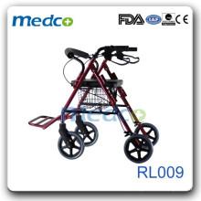 Rollator dobrável com apoio para os pés RL009