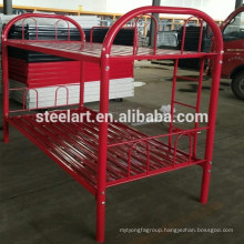 Red color simple latest design metal bunk bed for home room