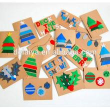 High Quality Best Price Custom Beautiful Handmade Best Wishes Greeting Card