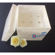 Valentinstag Geschenk für frische Rosen Acryl Blumenkasten