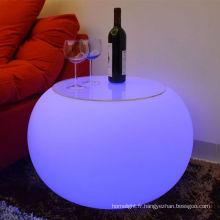 Salon moderne mini-bar mobilier Design LED pour bar discothèque meubles lumière flash table