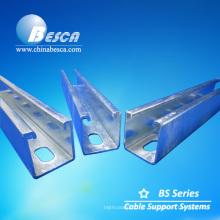 Sistema de canal de suporte elétrico de material de aço galvanizado