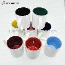 Couleur de sublimation à l'intérieur de tasses à café fabriquées en Chine