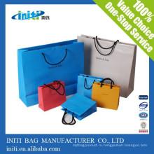 2015 новых качества моды пользовательских Покупки бумаги Drawstring сумка