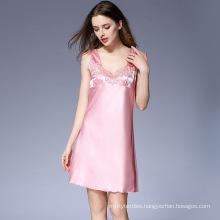 Custom Summer Sleepwear Short Pyjama Sets Chinese Satin Pajamas Women