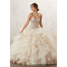 Champagne Beading Ballgown Prom Party Quinceanera Dress (89126)